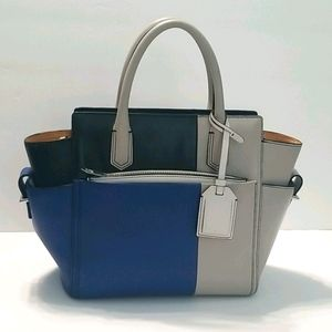 REED KRAKOFF leather Color blocked purse